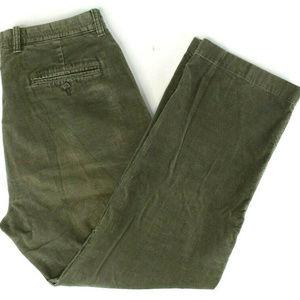 J. Crew Mens Vintage Corduroy Pants Sz 34x30 Brown